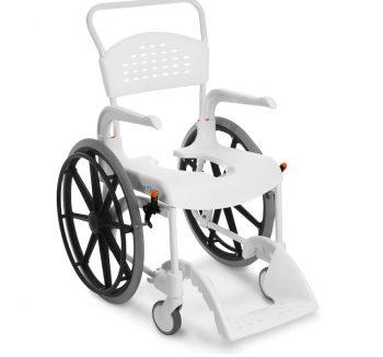 "Clean 24"" Büyük Tekerlekli Banyo Tuvalet Sandalyesi"