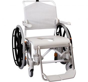 "Swift Mobile 24"" Büyük Tekerlekli Hasta Tuvalet Banyo Sandalyesi"